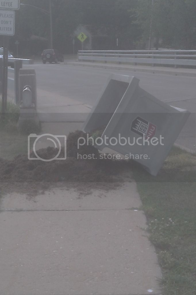 toppled planter